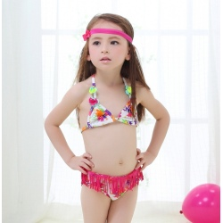 nice tassel girl bikini separated swimsuits
