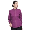 women long sleeve purple shirt
