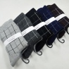 dashed line block thicken winter pile socks for men