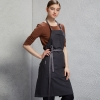 dark grey halter apron