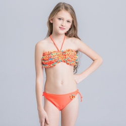 small floral little girl swimwear bikini