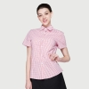 women pink grid shirts
