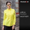 women yellow shirt