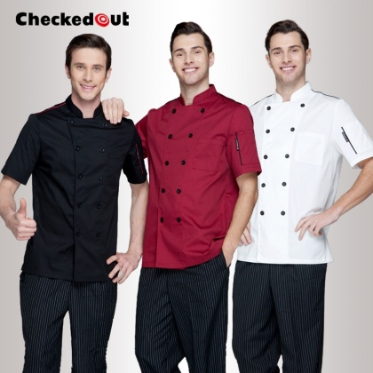 Europe America design short/ long sleeve unisex cook coat chef uniform