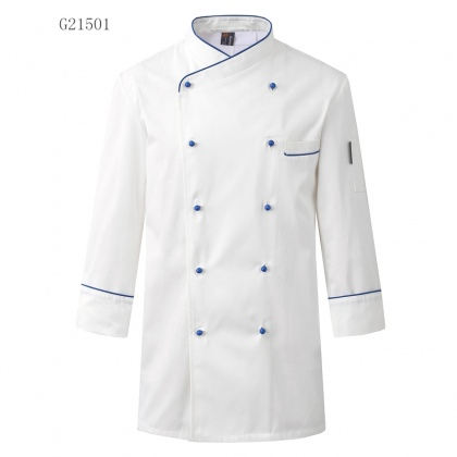 fashion double-breasted chef coat chef jacket uniform with airhole