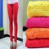 elastic fashion lace floral young girl leggings pant