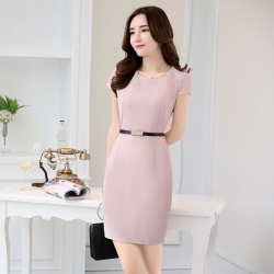 Asian design thin summer formal office dress for work