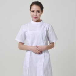 short sleeve side open nurse coat