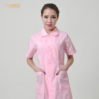 summer short sleeve front opening nurse coat