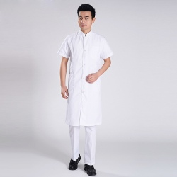 summer short sleeve men doctor dentist nurse coat hospital uniform