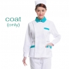 white (green collar) nurse coat