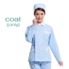 light blue (white collar) nurse coat