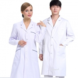 new arrival hospital notch lapel doctor coat nurse uniforms