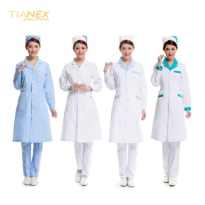 fashion medical long sleeve workwear nurse coat uniform