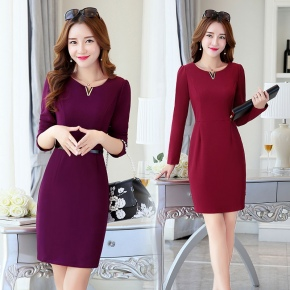 autumn new design Korea office work dress