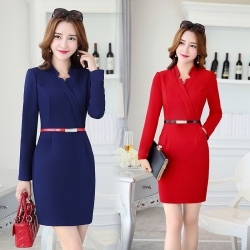 grace fashion women autumn workwear dress