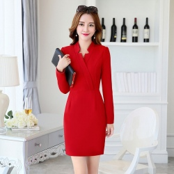 new arrival autumn design women long sleeve work dress BLKE 1635
