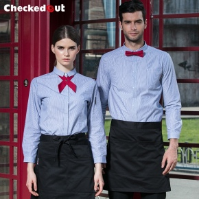 2017 fall collection hotel waitress waiter shirt uniforms