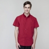 short sleeve red waiter shirt