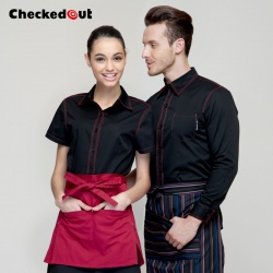 brand fast food clerk waiter waitress shirt uniform