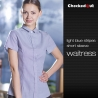 short sleeve light blue shirt for women