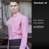 long sleeve pink shirt for men