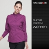 women purple shirt