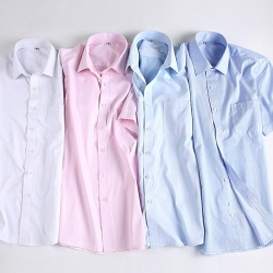 summer men short sleeve office business men shirt