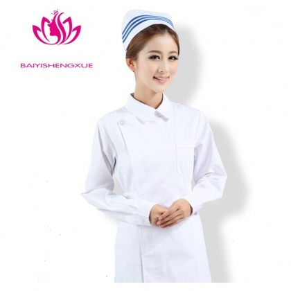 fashion right opening lady nurse coat hospital medical uniform
