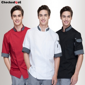 summer 3/4 length sleeve restaurants chef uniform chef jacket