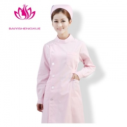 long sleeve round collar fashion nurse coat uniform