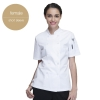 short sleeve women white jacket