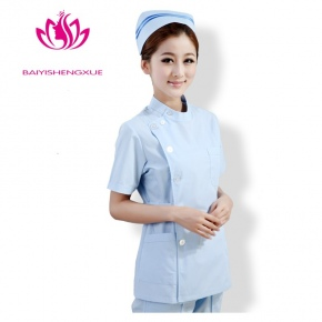 fashion side-buttoned short sleeve summer nurse coat uniform