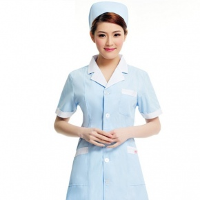 thin fabric Nurse Medical School experiment coat unifom JX81