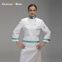 brand long sleeve chef coat uniforms design for female chef