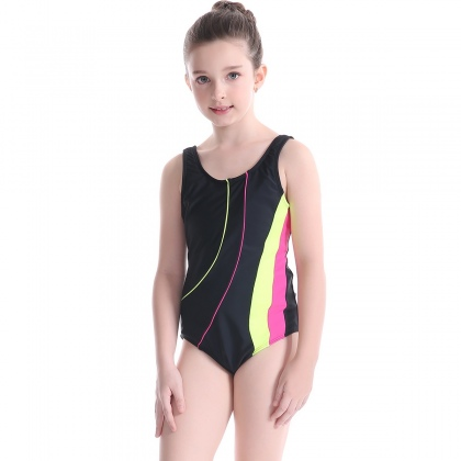 high quality athletics child girl one-piece bikini swimwear