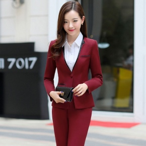 Korea women suit office lady pant suits