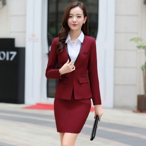 elegant beauty Korea lady work suits reception uniform