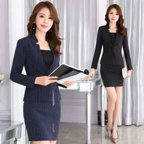 fashion stripe business office women skirts suits