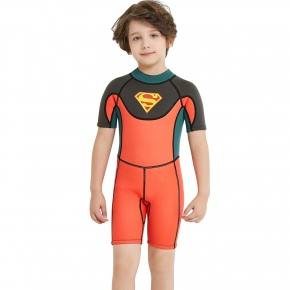 super men x-manta design wet suits swimwear for boy