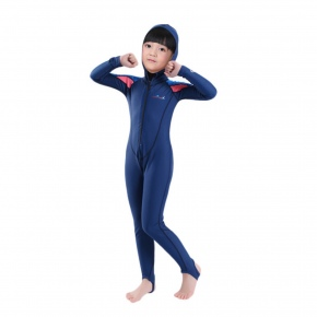 one piece hooded wet suits swimwear for children