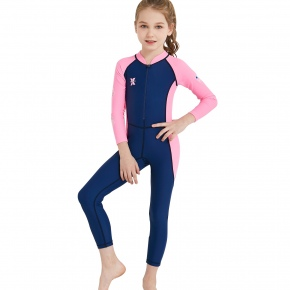 children long sleeve patchwork wetsuits swimwear