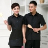 summer fake tie short sleeve waitress uniform discount