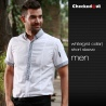 men short sleeve white(grid collar)