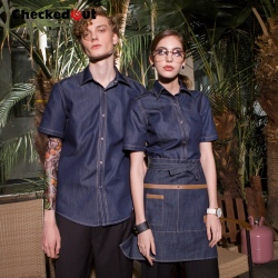 short sleeve fast food restaurant waiter uniform cafe bar uniform