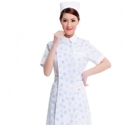 summer Korea short sleeve floral young uniform for nurse