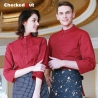 new design single breast cafe waiter shirt work wear