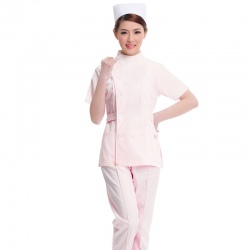 summer short sleeve women nurse suits blouse and pant
