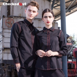 checkedout Chinese restaurant waitress waiter jacket uniform