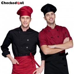 Europe America design short long sleeve stand collar men chef coat uniform